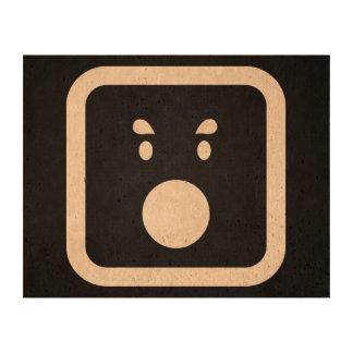 Surprise Emoticons Graphic Queork Photo Print