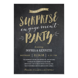 Surprise Engagement Party Invitations - Chalkboard