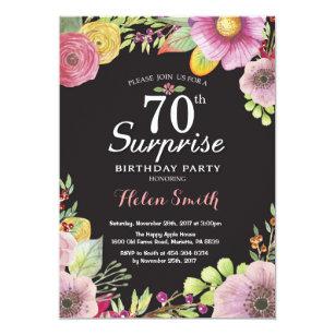 Surprise 70th Birthday Invitations Announcements Zazzle