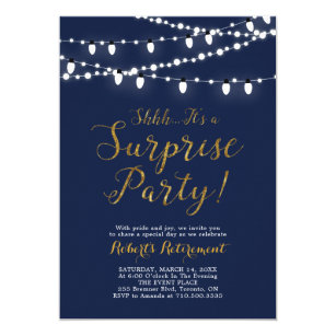 Retirement Party Invitation Template | Surprise Retirement Invitations Zazzle
