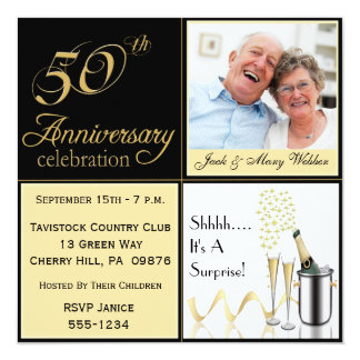 Surprise Golden Wedding Anniversary Invitations