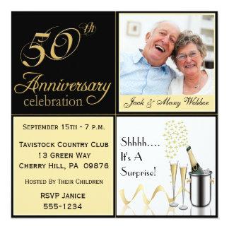 Surprise Golden Wedding Anniversary Invitations