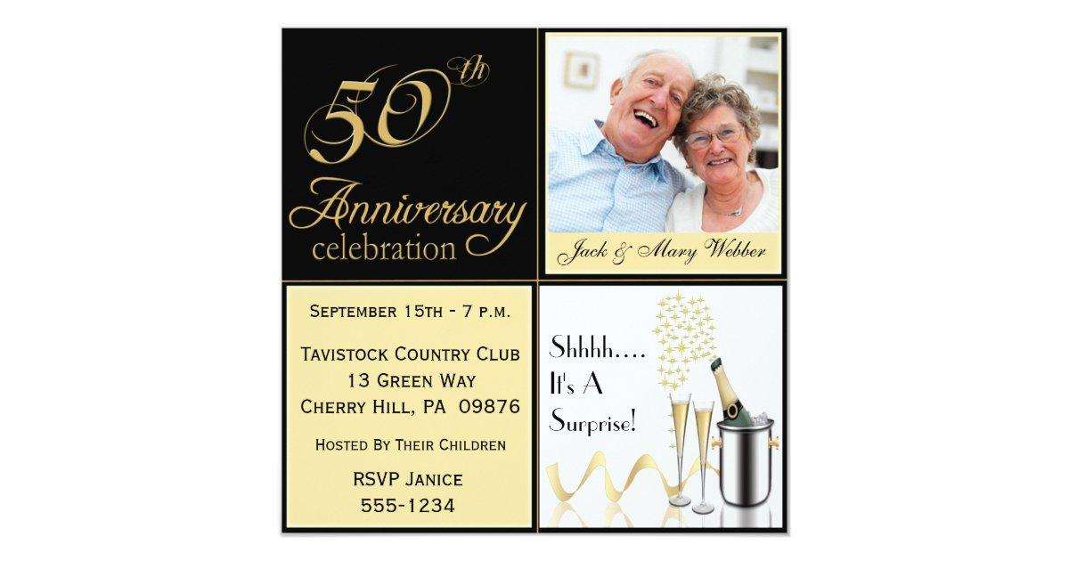 Surprise Wedding Invitation Wording: Surprise Golden Wedding Anniversary Invitations