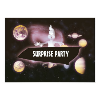 Surprise halloween birthday party 5x7 paper invitation card
