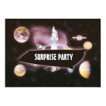 Surprise halloween birthday party invitations