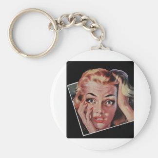 Surprise in a Polaroid Basic Round Button Keychain