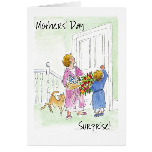 'Surprise' Mother's Day Greeting Card | Zazzle