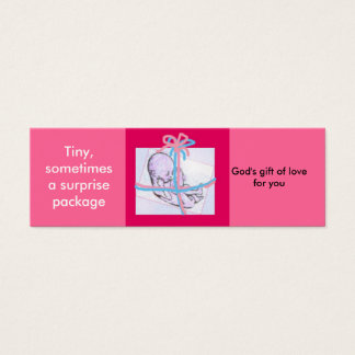Surprise package - prolife message mini business card