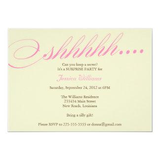 Surprise Party 5x7 Paper Invitation Card