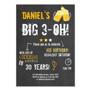 Surprise 30th birthday invitations announcements zazzle surprise party cheers and beers birthday 30th men invitation filmwisefo