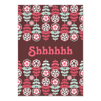 Surprise Party Chic Whimsical Retro Floral Card