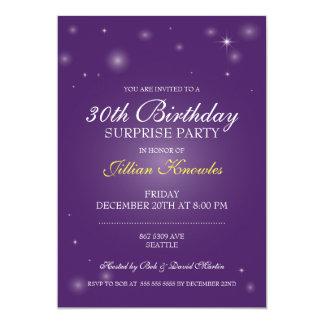 Surprise Party Elegant Amethyst Orbs Stars Card