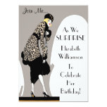 "Surprise Party! Elegant Art Deco Party Invitations 5"" X 7"" Invitation Card"