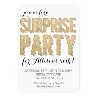 Surprise Party Glitter Card