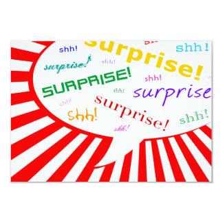 surprise party invitation : comic speech bubble