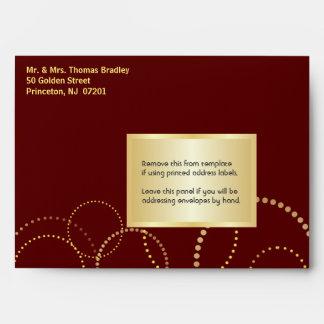 Surprise Party Invitation Envelopes - Burgundy
