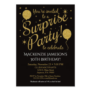 Surprise Party Invitations Announcements Zazzle