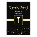 """Surprise Party Invitations - Contemporary 5"""" X 7"""" Invitation Card"""