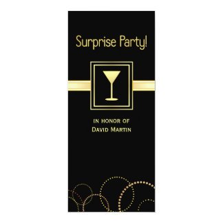 Surprise Party Invitations - Contemporary Tall