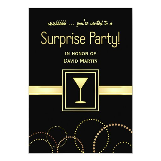 """Surprise Party Invitations - Ssshhh You're Invited 5"""" X 7"""" Invitation Card"""