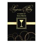 "Surprise Party Invitations - with Monogram 5"" X 7"" Invitation Card"