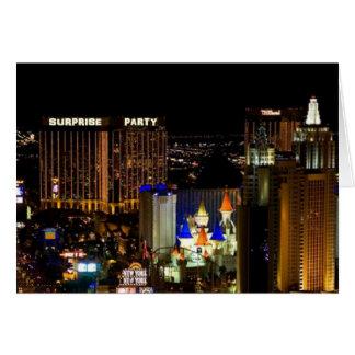 SURPRISE PARTY! Las Vegas Strip Card