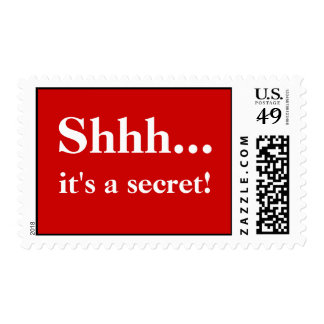 Surprise Party Postage Stamps - Red