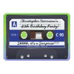 Surprise Party Retro 80s Cassette Tape 5x7 Paper Invitation Card
