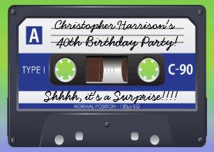 Cassette Tape Invitations Zazzle