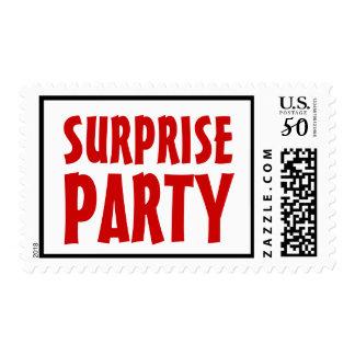 SURPRISE PARTY Stamp Bold Lettering V21