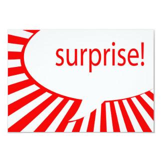 surprise! party : talking bubble invitations