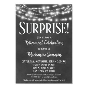 Surprise Retirement Invitations Zazzle