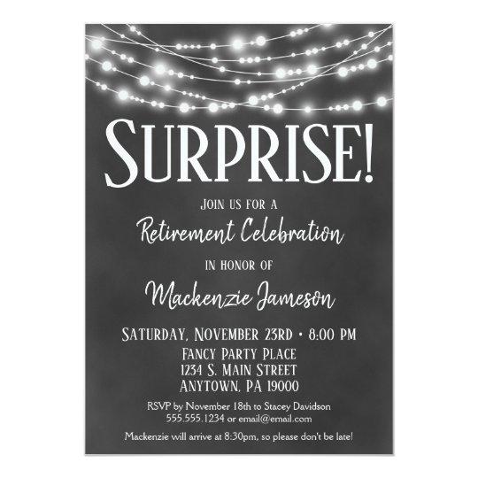 Surprise Retirement Party Invitation Chalkboard