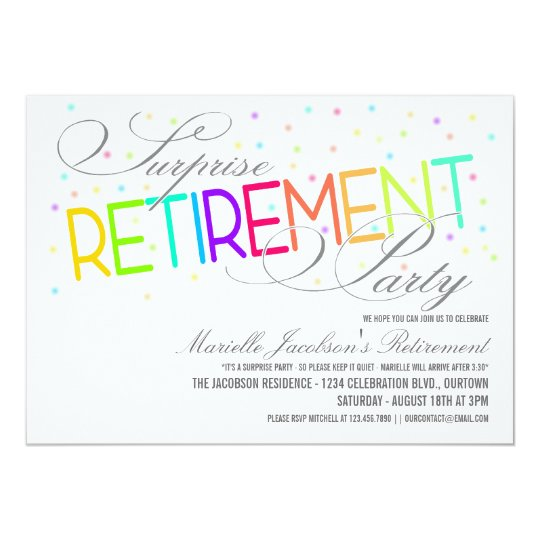 surprise retirement party invitations – frenchkitten, Party invitations