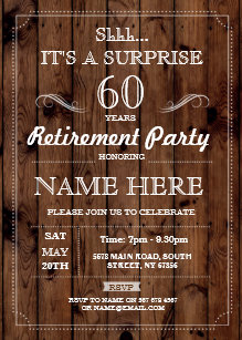 surprise retirement invitations zazzle