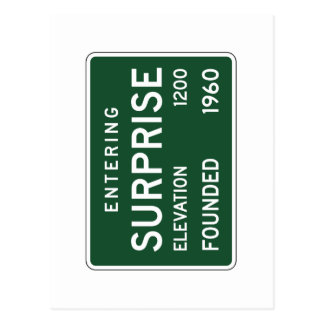 Surprise, Road Marker, Arizona, USA Postcard