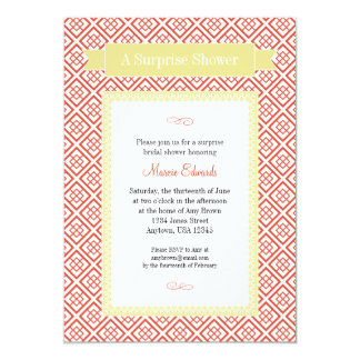 Surprise Shower invitation - Red and Yellow