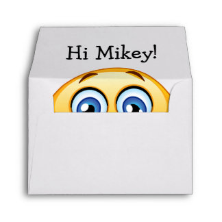 Surprise Smile A2 Christmas Note Card Envelope