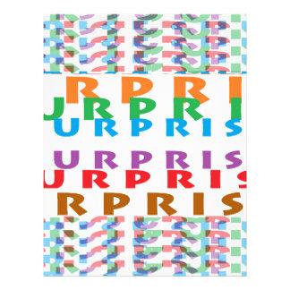 SURPRISE Text fun funny party games Letterhead