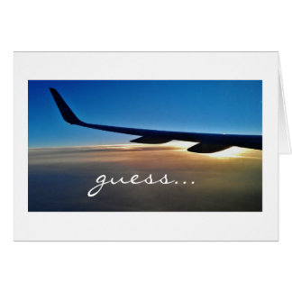 Surprise trip : Airplane and sunrise Greeting Card