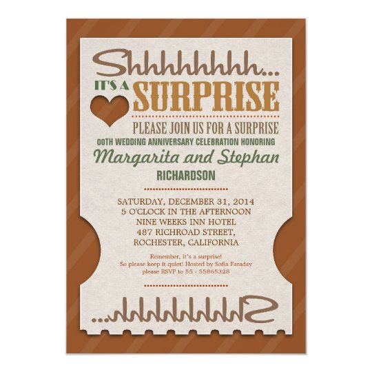 Surprise Anniversary Invitations  Announcements  Zazzle