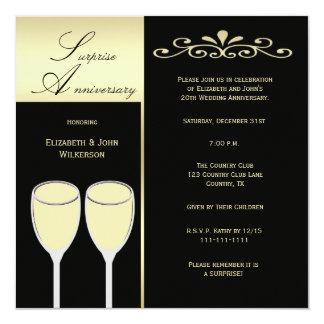Surprise Wedding Anniversary Party Invitation