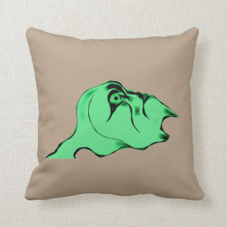 Surprised Alien Yellow Flower Throw Pillow