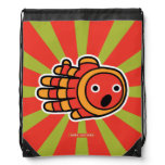 Hand shaped Surprised Baby Clown Fish Drawstring Bag