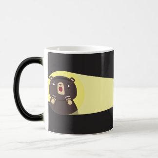 Surprised Bear Night Discovery 11 Oz Magic Heat Color-Changing Coffee Mug
