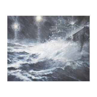 Surprised By Starshell Scharnhorst Battle of Canvas Print