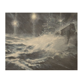 Surprised By Starshell Scharnhorst Battle of Wood Print