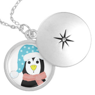 Surprised Cartoon Penguin Pendant