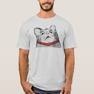 Surprised Cat Gasp Meme - 2-sided T-Shirt