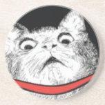 """Surprised Cat Gasp Meme - Drink Premium Coaster<br><div class=""""desc"""">&quot;Surprised Cat Gasp Meme&quot; Design Style Drink Premium Coaster</div>"""